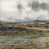 Картины и панно handmade. Livemaster - original item Painting Path (gray, green, landscape). Handmade.
