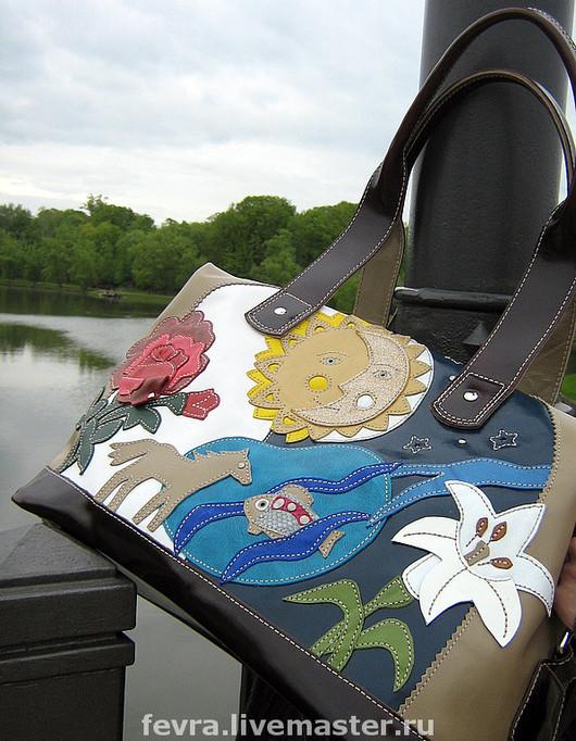 Handbags handmade. Livemaster - handmade. Buy Bag 'Mystical for Elena'.Genuine leather, symbol, drawing, metal hardware