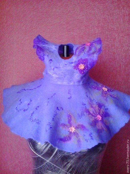 Одежда для девочек, ручной работы. Ярмарка Мастеров - ручная работа. Купить валяное платьице для маленькой модницы.. Handmade. Рисунок