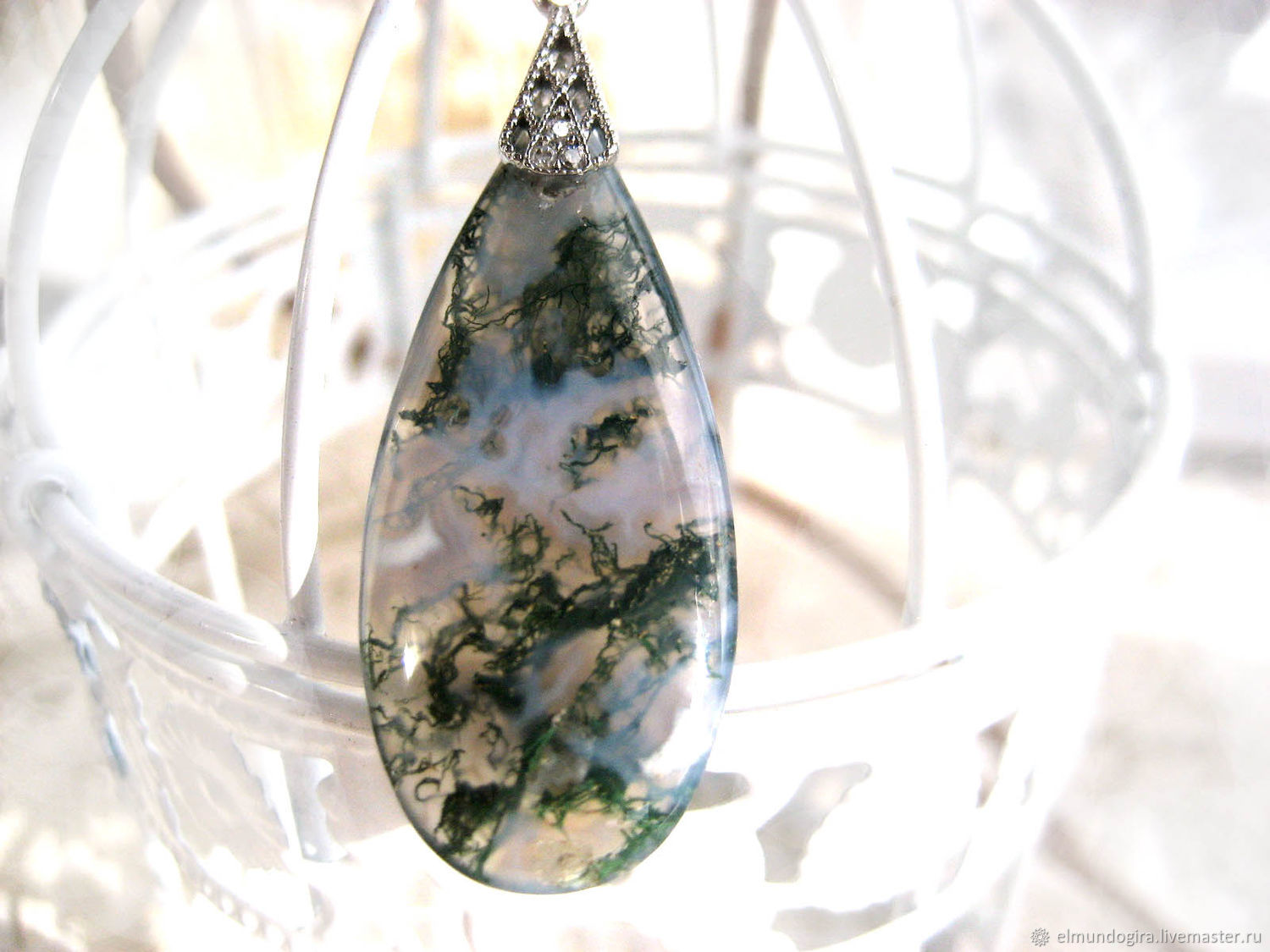 A copy of the product is a pendant made of chic green and black agate, Pendants, Moscow,  Фото №1