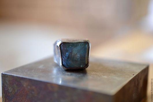 """Кольца ручной работы. Ярмарка Мастеров - ручная работа. Купить """"Ghiaccio"""", аквамарин, серебро. Handmade. Синий, серебро"""