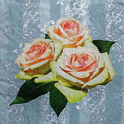 Материалы для творчества handmade. Livemaster - original item 13pcs napkins for decoupage rose flower print. Handmade.