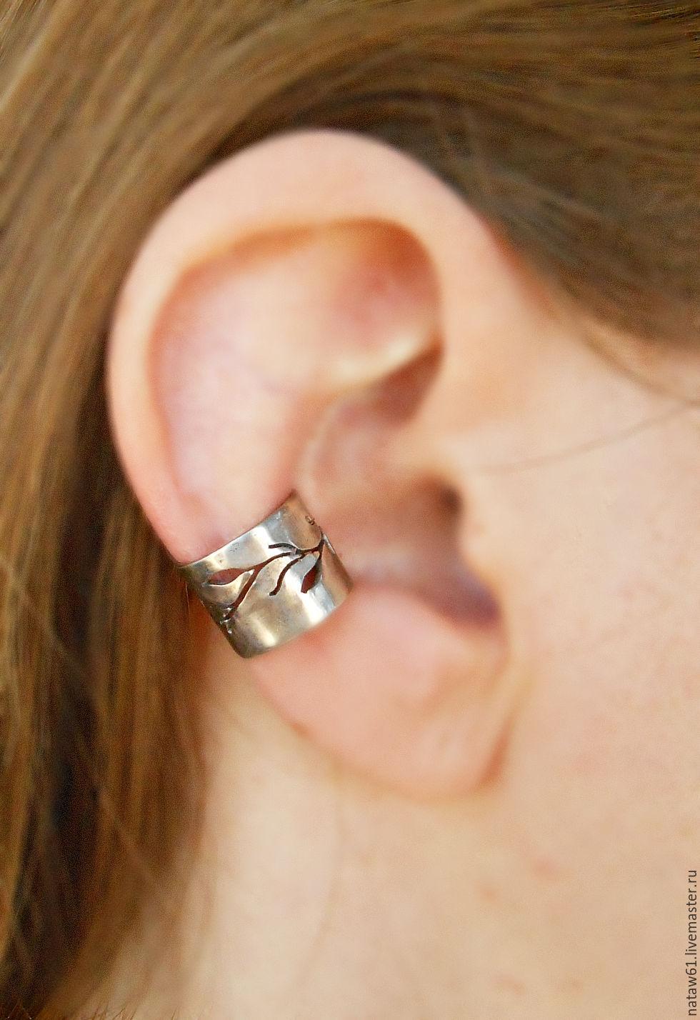 Cuff Earrings Handmade Livemaster Ear Forest Minimalism