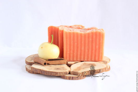 Мыло ручной работы. Ярмарка Мастеров - ручная работа. Купить Мыло с нуля Яблоко с корицей. Handmade. Натуральное мыло