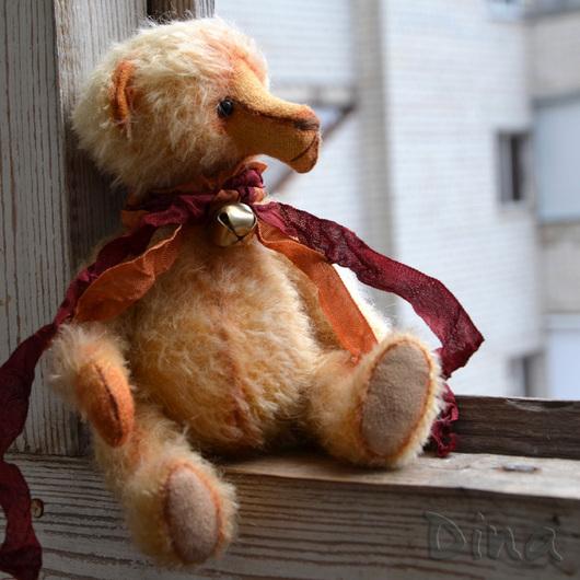 Мишки Тедди ручной работы. Ярмарка Мастеров - ручная работа. Купить Мишка Нил. Handmade. Желтый, тедди мишка, опилки