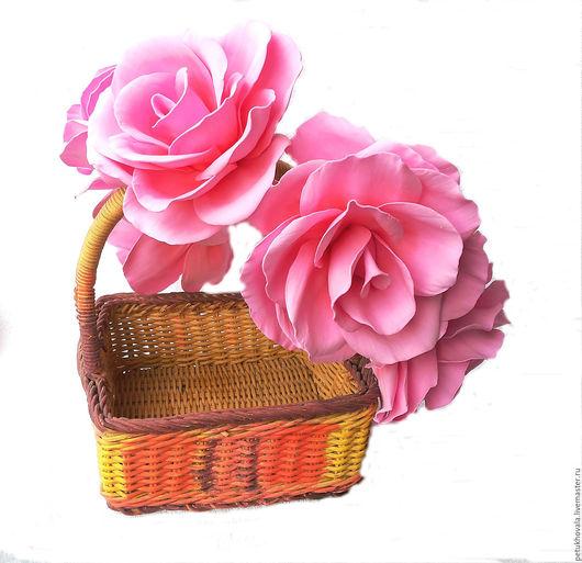Диадемы, обручи ручной работы. Ярмарка Мастеров - ручная работа. Купить Венок на голову с розами из фоамирана в розовых тонах. Handmade.