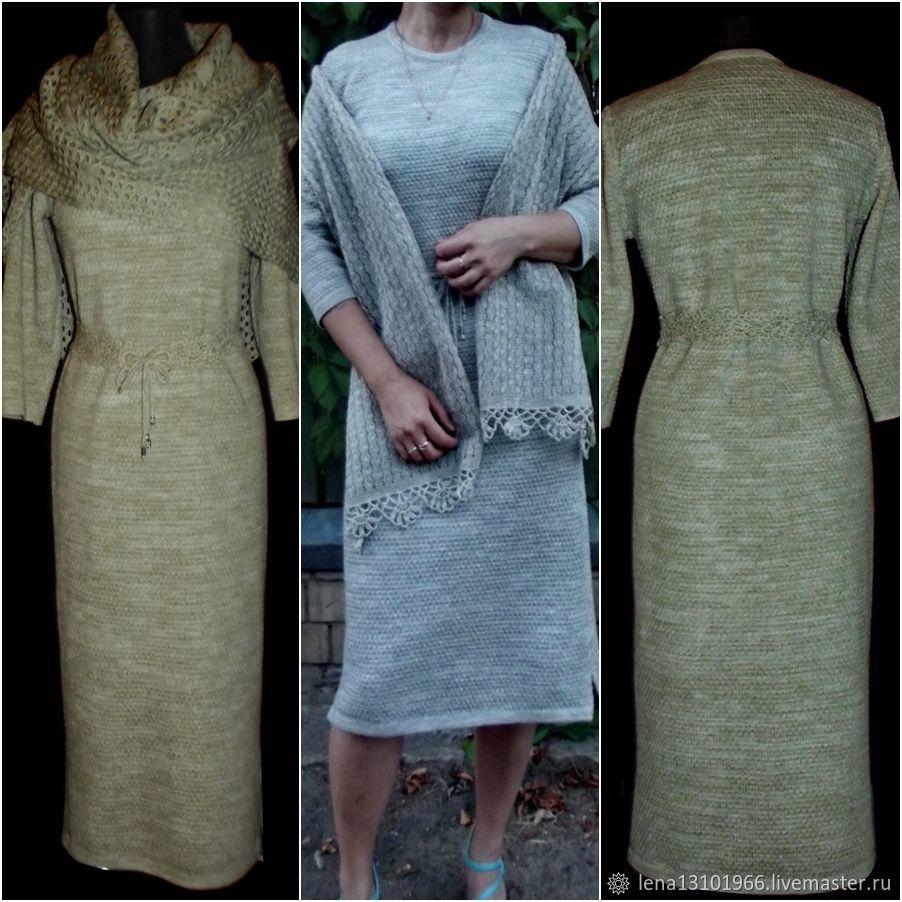 Associated from flax .Dress 'Olenka', Dresses, Kostroma,  Фото №1