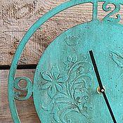 Для дома и интерьера ручной работы. Ярмарка Мастеров - ручная работа часы настенные мятная бирюза. Handmade.