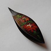 Материалы для творчества handmade. Livemaster - original item Wooden Tatting Shuttle With Sharp Pick Made in Ebony. Hand Painted. Handmade.
