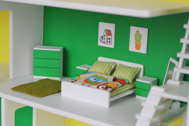 Спальня для кукольного домика Овощной, Мебель для кукол, Новосибирск,  Фото №1
