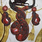 """Украшения ручной работы. Ярмарка Мастеров - ручная работа набор украшений """"Рыжая осень"""". Handmade."""