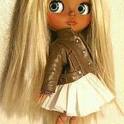 Куклы и игрушки ручной работы. Ярмарка Мастеров - ручная работа Кожаная куртка. Handmade.