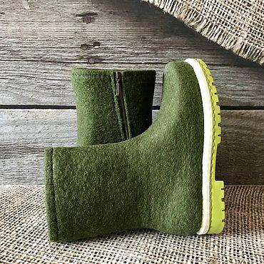 Обувь ручной работы. Ярмарка Мастеров - ручная работа Сапожки валяные на молнии. Handmade.