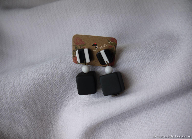 Earrings-ear-stud 'Neformat', Stud earrings, Moscow,  Фото №1