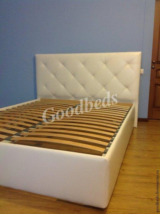 Мебель ручной работы. Ярмарка Мастеров - ручная работа. Купить Кровать Foundnes. Handmade. Белый, спальня, мягкая спинка, мдф