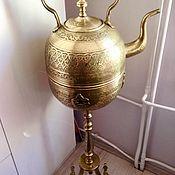 Раритет. Огромный восточный чайник  с подогревом, бульетка, самовар!