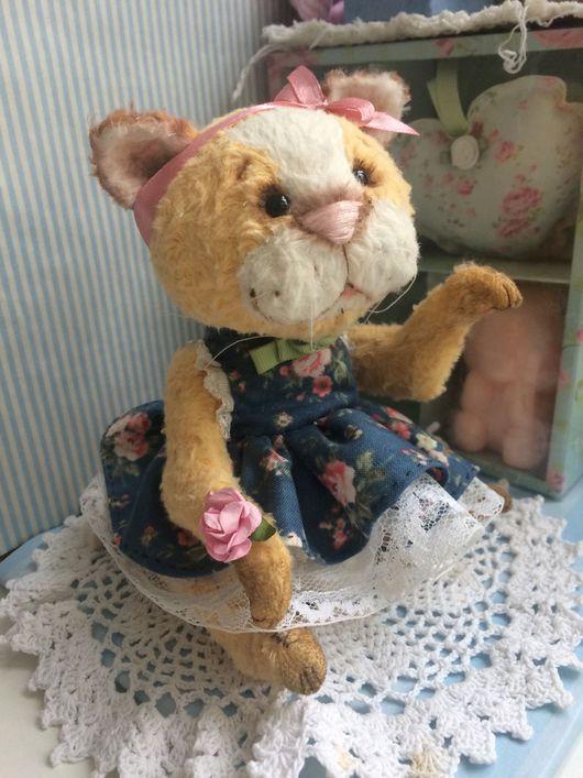 Мишки Тедди ручной работы. Ярмарка Мастеров - ручная работа. Купить Кошечка Клео. Handmade. Котик тедди, друзья тедди