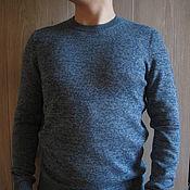 """Пуловеры ручной работы. Ярмарка Мастеров - ручная работа Вязаный мужской пуловер """"Blue mix"""". Handmade."""