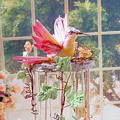 Куклы и игрушки ручной работы. Ярмарка Мастеров - ручная работа Клетка с птичкой для куклы, миниатюра. Handmade.