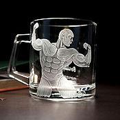 Посуда handmade. Livemaster - original item Mug motivator gift for the athlete bodybuilding. Handmade.