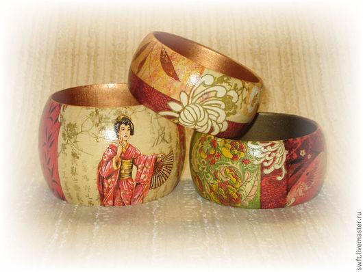 бежевый красный зеленый восточный  деревянный женский восточный недорогой деревянный браслет подарок стиль недорого что подарить девушке женщине сестре подруге маме жене 8 марта день рождения дерево