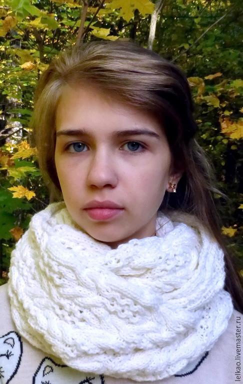 ... снуд в два оборота, шарф вязаный спицами, шарф женский вязаный, купить  снуд, ... 1bf5505a1ce