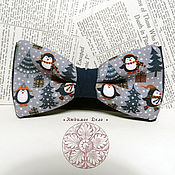 Аксессуары handmade. Livemaster - original item Tie Penguins/ penguins/ Arctic/ Antarctica/ penguin. Handmade.