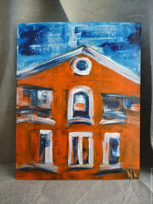 Яркие картины, авторская картина, картина,  картина старый дом, пейзаж, городской пейзаж, картина акрилом, картина акрил, небольшая картина, купить картину, картина в Екатеринбурге.