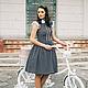 """Платья ручной работы. Ярмарка Мастеров - ручная работа. Купить Платье """"Велосипедная прогулка"""". Handmade. Темно-серый, платье повседневное"""
