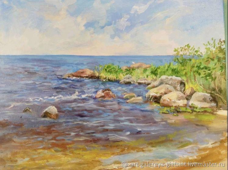 Чудское озеро рисунок