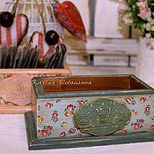 Для дома и интерьера ручной работы. Ярмарка Мастеров - ручная работа Короб-подставка под чайные пакетики. Handmade.