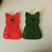 Подарки к праздникам ручной работы. Ярмарка Мастеров - ручная работа Коты из фетра. Handmade.