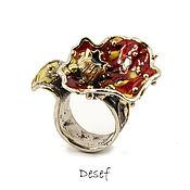 Украшения handmade. Livemaster - original item The ring on the whole finger: mushroom. Handmade.