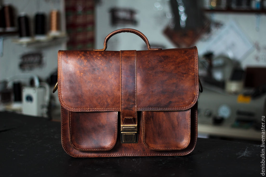 Briefcase made of genuine leather, Brief case, Penza,  Фото №1
