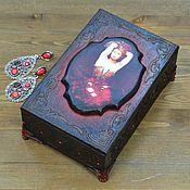 Для дома и интерьера ручной работы. Ярмарка Мастеров - ручная работа Шкатулка Роковая женщина. Handmade.