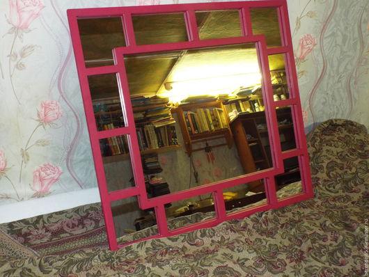 Зеркала ручной работы. Ярмарка Мастеров - ручная работа. Купить зеркало. Handmade. Фуксия, зеркало в раме