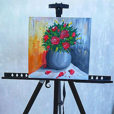 Картины и панно ручной работы. Ярмарка Мастеров - ручная работа «Цветочная композиция». Handmade.