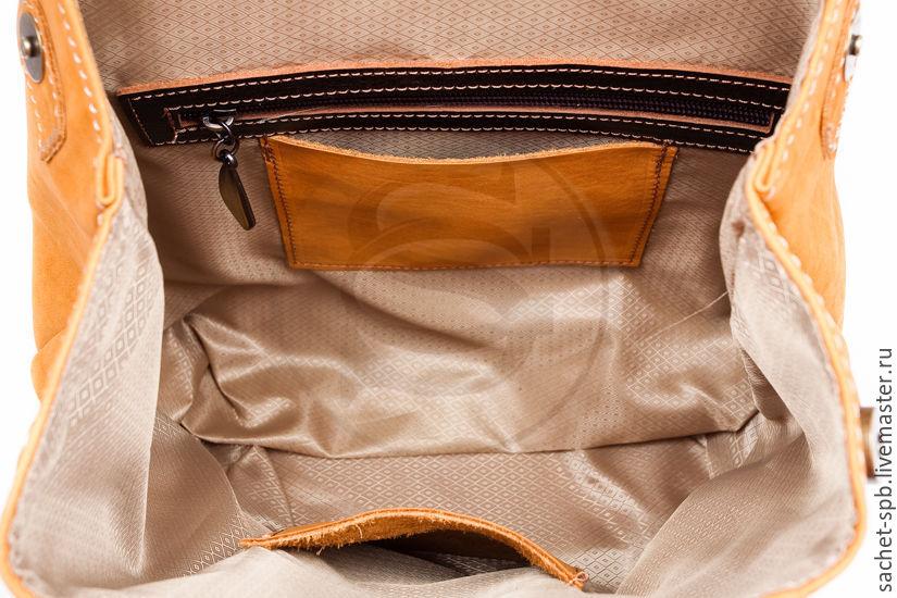 c38603db9f89 Рюкзак из нубука Палермо жёлтый. Кожинка-САШЕ (sachet-. Рюкзаки ручной  работы. Ярмарка Мастеров - ручная работа. Купить ...