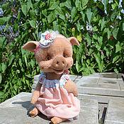 Куклы и игрушки ручной работы. Ярмарка Мастеров - ручная работа Валяная свинка Хрюня. Handmade.
