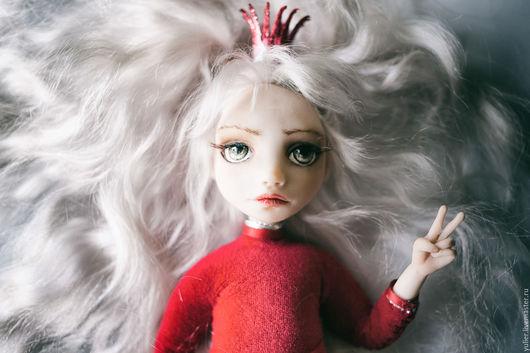 Коллекционные куклы ручной работы. Ярмарка Мастеров - ручная работа. Купить девочка  Rubi !. Handmade. Ярко-красный, блондинка