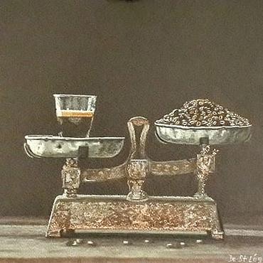 Картины и панно ручной работы. Ярмарка Мастеров - ручная работа Аромат кофе. Handmade.