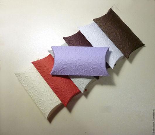 Упаковка ручной работы. Ярмарка Мастеров - ручная работа. Купить Бонбоньерка 12х6,5 см с растительным узором разные цвета. Handmade.