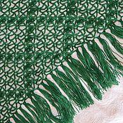 Аксессуары handmade. Livemaster - original item Hooked emeral-green shawl. Handmade.