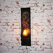 """Для дома и интерьера ручной работы. Ярмарка Мастеров - ручная работа Настенный светильник """" Мадонна с младенцем """". Handmade."""