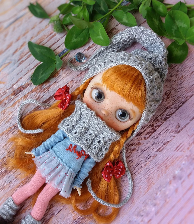 Комплект для блайз миди. Шапочка и шарф, Одежда для кукол, Нижний Новгород,  Фото №1