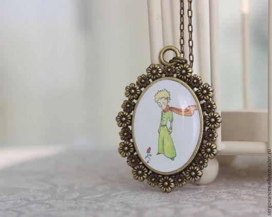 """Колье, бусы ручной работы. Ярмарка Мастеров - ручная работа. Купить Кулон в винтажном стиле """"Маленький принц"""". Handmade. Разноцветный"""