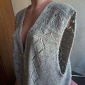 Одежда ручной работы. Ярмарка Мастеров - ручная работа Безрукавка с ажурным узором. Handmade.