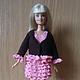 Одежда для кукол ручной работы. Ярмарка Мастеров - ручная работа. Купить шоколадный комплект с розовыми оборками. Handmade. Коричневый