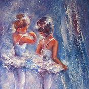 Картины и панно handmade. Livemaster - original item Little ballerina painting Ballerina oil painting abstract. Handmade.