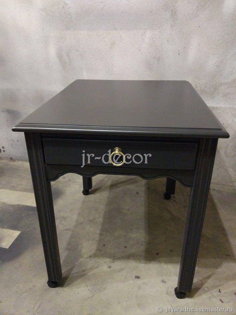 Мебель ручной работы. Ярмарка Мастеров - ручная работа. Купить Столик прикроватный (придиванный) черный. Handmade. Черный, американская мебель
